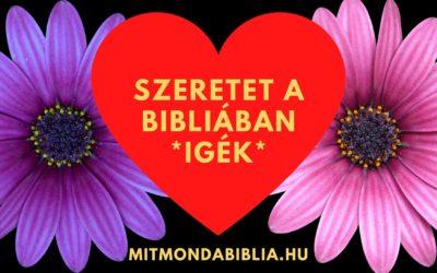 Bibliai igék, idézetek a szeretetről